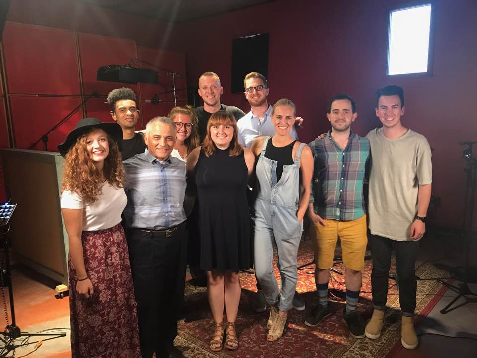 ALMA students and alumni, band members and Gabriel Espinosa '80 came together in the studio to create music videos.