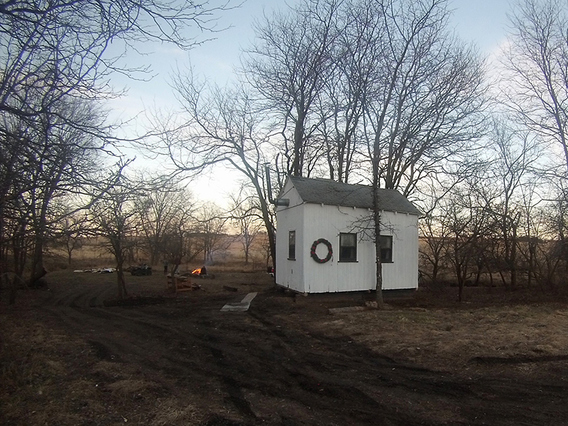 Amy Andrews and Ethan Van Kooten built this tiny home almost entirely from scrap materials.