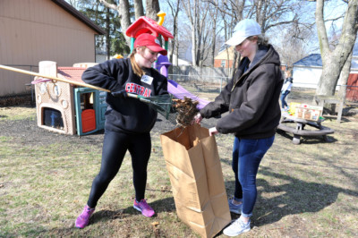 Central Students Work with Community Members During Annual Service Day